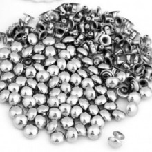 50 x Remache de Metal para Cuero Piel Guarnicionero de 7 mm Color Plata 3801